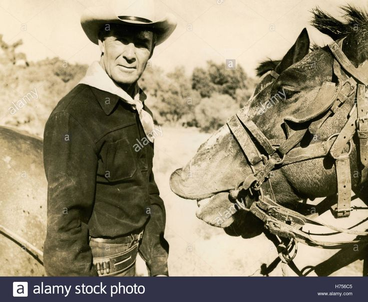 American actor Randolph Scott in the film Seven Men from now, USA Stock Photo, Royalty Free Image: 124889973 - Alamy