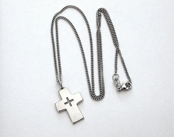 James Avery Sterling Cross Pendant on Signed by IndustrialBlonde, $69.00