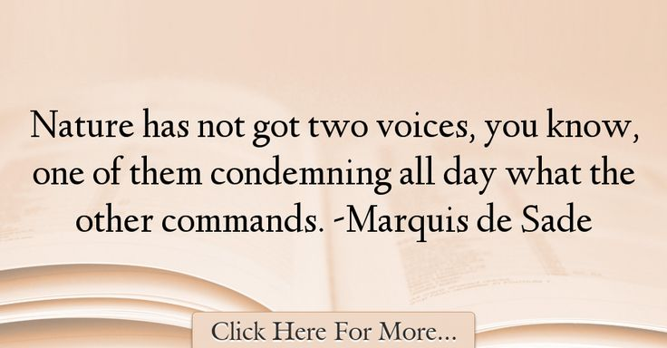 Marquis de Sade Quotes About Nature - 51758
