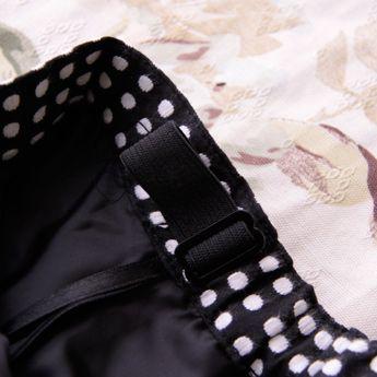 ガールズ4点スーツセットジャケット、ブラウス、蝶ネクタイ、ドット柄スカート子供ドレスKIDSキッズハイネック長袖結婚式七五三