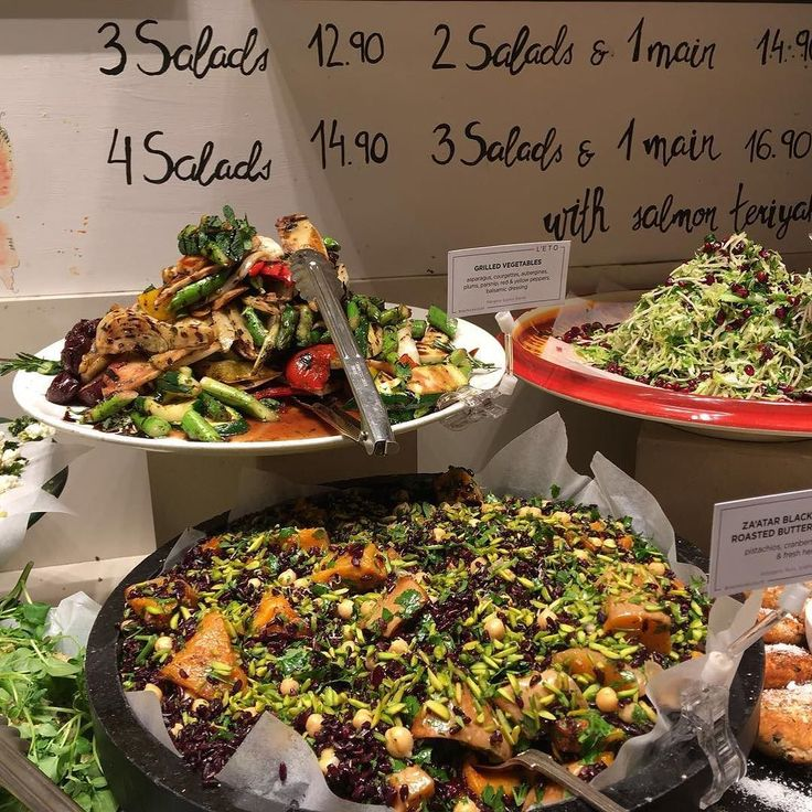 Is your #NewYearResolution to eat more salad?  Enjoy breakfast lunch and dinner at @letocaffe.co.uk with their freshly made salads to suit everybody.  And for those who need to break a resolution there are also great cakes - many of which are #glutenfree.  #BromptonRoad #SouthKensington #London #EatOut #Salads #MiddleEastern #Mediterranean #Cafe #GlutenFree #Vegetarian