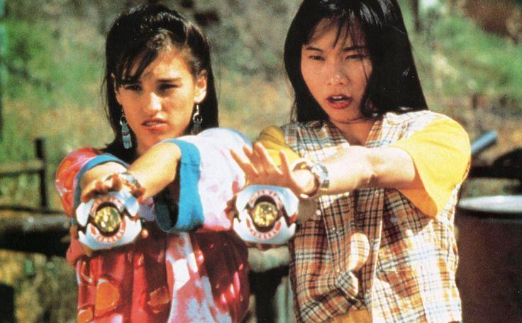 Amy Jo Johnson & Thuy Trang from Power Rangers.