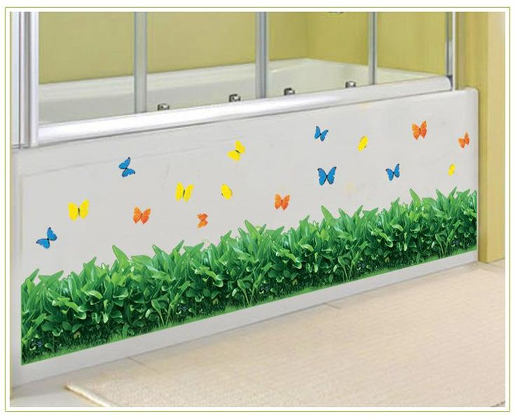 Green Grass Wall Border Decal Sticker Kitchen Wash Room Living Room Window Glass Decoration Wallpaper Decor Poster Butterfly Art Decal Wall Art Decals Trees Wall Art Decor Stickers From Magicforwall, $2.17| Dhgate.Com