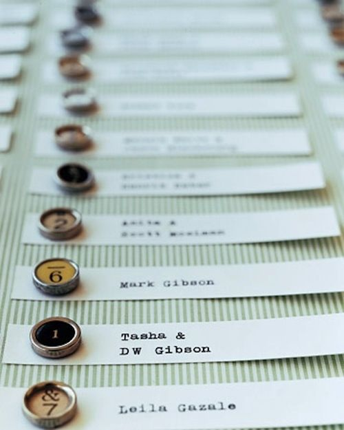 Typewriter Key Place Cards | 35 Cute And Clever Ideas For Place Cards