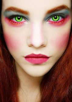 female mad hatter makeup - Google Search                                                                                                                                                     More