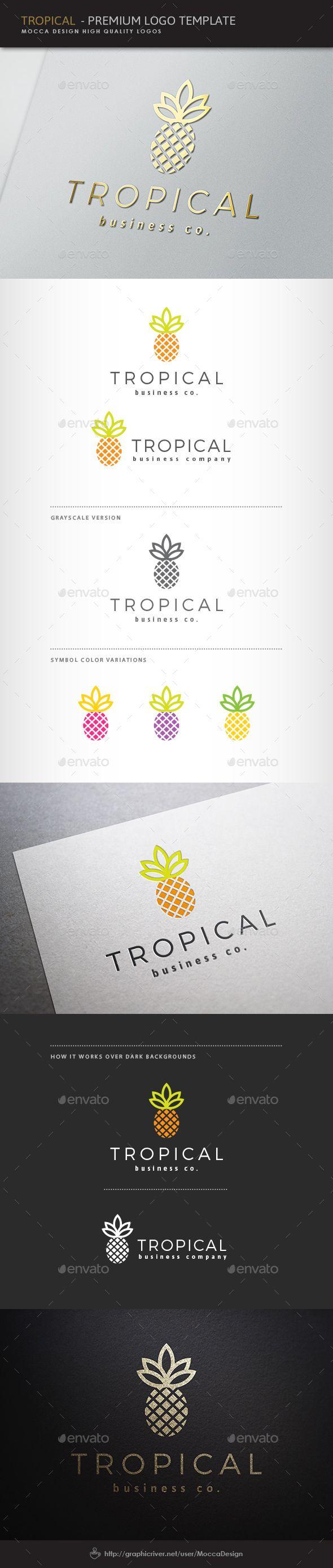 Tropical Logo — Vector EPS #mass media #high tech • Available here → https://graphicriver.net/item/tropical-logo/4443387?ref=pxcr