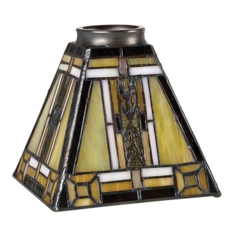 2 1 4 Quot Fitter Set Of Four Mission Tiffany Glass Shades