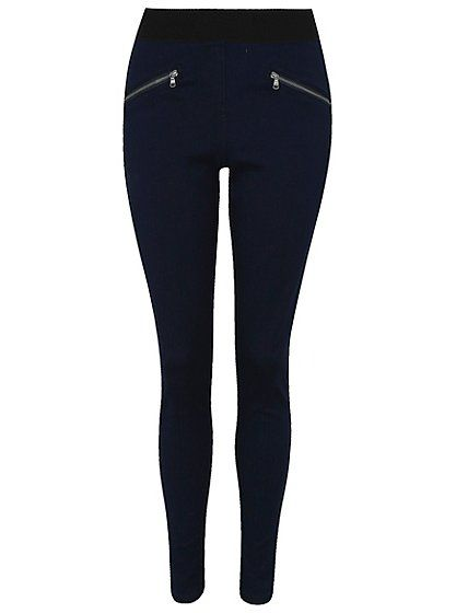 Zip Jeggings, read reviews and buy online at George at ASDA. Shop from our latest range in Women. Just like jeans but comfier – these zip jeggings are a grea...