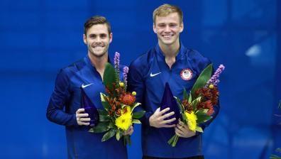 David Boudia and Steele Johnson SILVER Diving #rio2016 #Olympics #USA