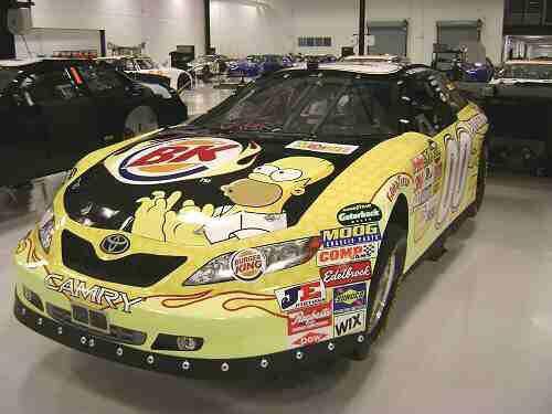 David Reutimann #00 Burger King Simpsons paint scheme