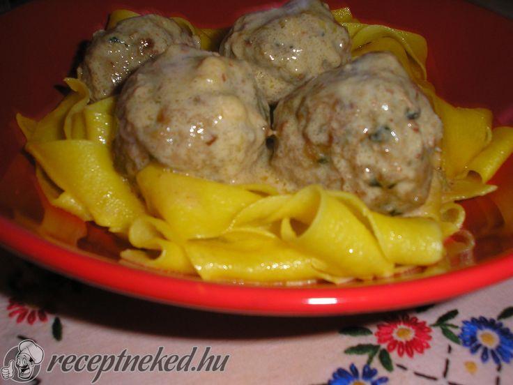 Orosz húsgombócok mustármártással ~~ receptneked.hu