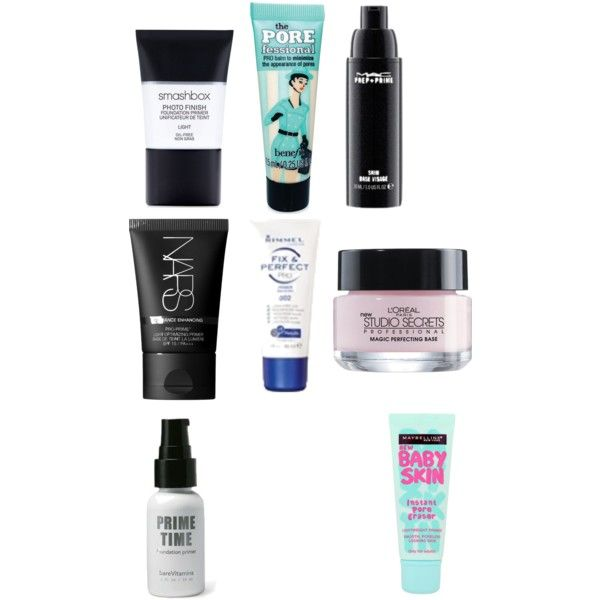 primers by thefashionnouveau on Polyvore featuring beleza, MAC Cosmetics, NARS Cosmetics, Bare Escentuals, Smashbox, Rimmel, Benefit, L'Oréal Paris and Maybelline