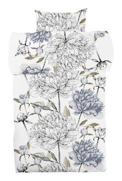 Vanha suola -pussilakanoiden kukkakuosi on Tanja Orsjoen suunnittelema. Tokmanni