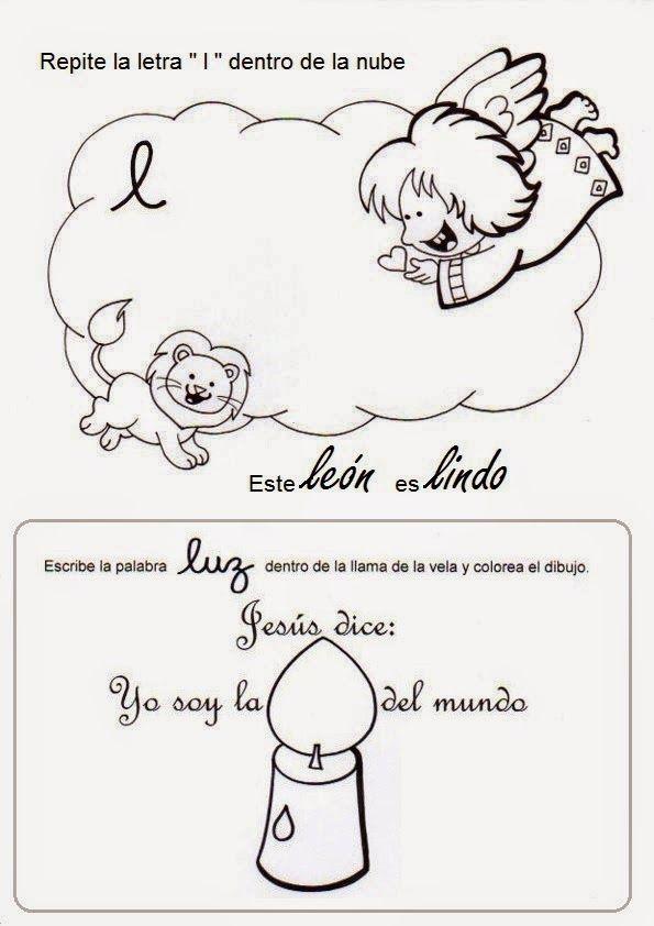 El Rincón de las Melli: Un ángel para cada letra (para colorear, escribir y jugar)