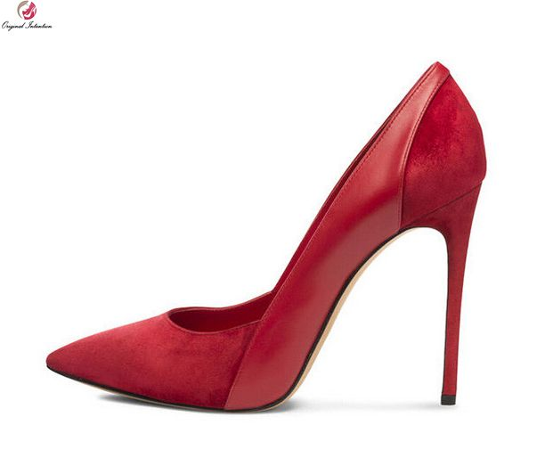 Original Intention New Sexy Women Pumps Fashion Pointed Toe Thin High Heels  Pumps Black Blue Red 4e935709ff1a