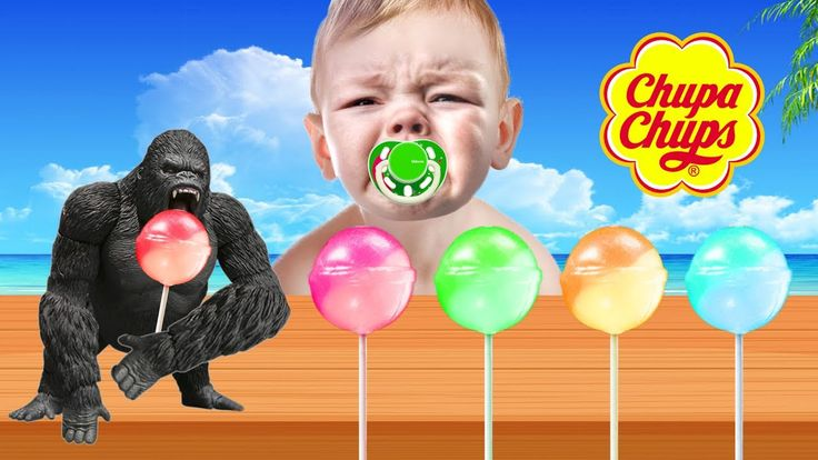 Bad Baby Lollipop Learn colors Chupa Chups - Learning Colours With King ...