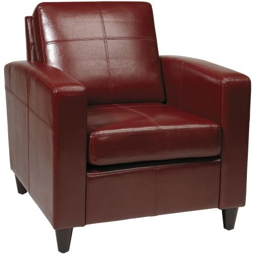 Ave Six VNS51A-CBD Cherry Eco Leather Venus Club Chair - Accent Chairs at Hayneedle