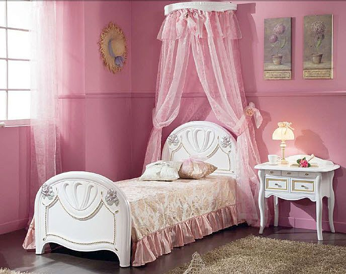 little girls pink bedroom with canopy bed Best 25+ Girls canopy beds ideas on Pinterest | Canopy beds for girls, Bed canopy lights and