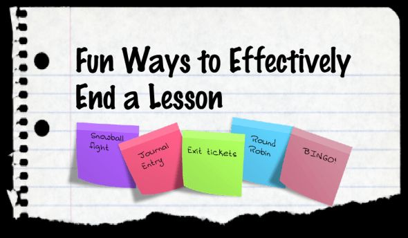 end of lesson activities