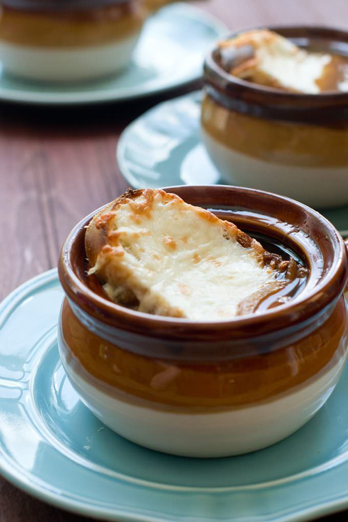 Vidalia onions are the key to making this French onions soup the quickest ever.
