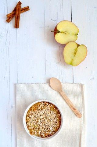 Appeltaart Havermout uit de oven - Applepie Oats #healthy #breakfast