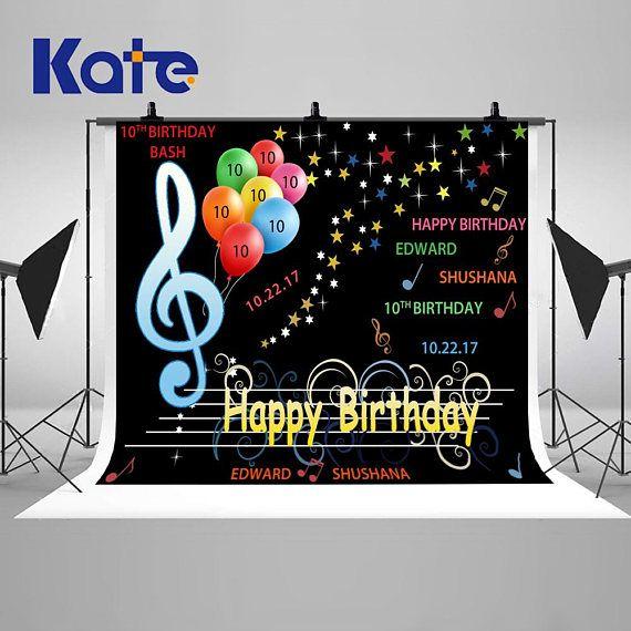 Music Birthday Personalized Banner
