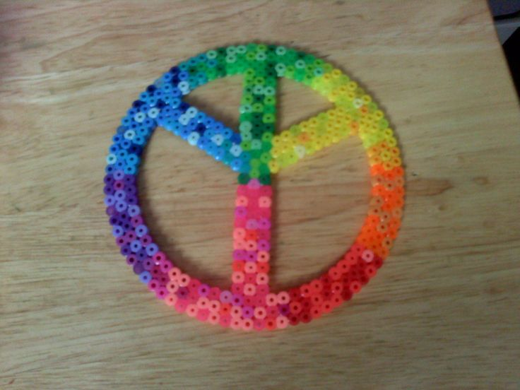 perler peace sign by dylrocks95.deviantart.com on @deviantART
