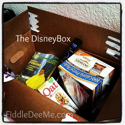 ...this a really great and simple idea...start gather stuff for the trip in a box! Stuff like ponchos, Disney things you see on sale, snacks that won't spoil (fruit snacks, etc.)...then you aren't scrambling and pay big bucks so close the trip.