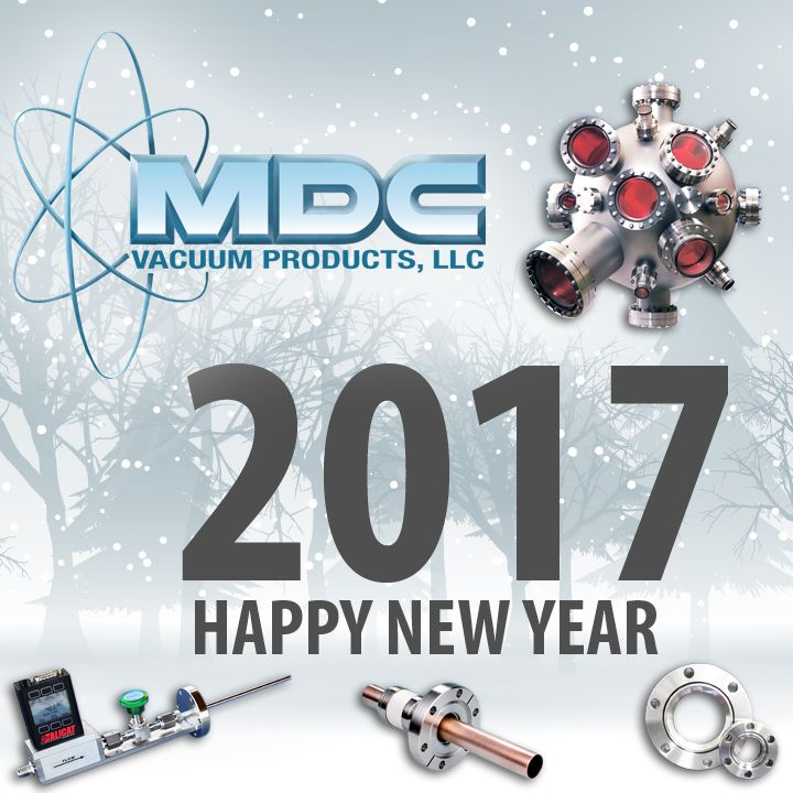 MDC would like to wish everyone a happy new year! Our offices will be closed on Monday, January 2nd, in observance of New Year's Day. We look forward to driving your process forward in 2017 with vacuum, ceramic seal, and gas delivery solutions. Visit our website to check out all of the new products we launched in 2016: http://www.mdcvacuum.com/. We will be releasing more innovative new products in the new year, so stayed tuned! #MDCVacuum #vacuumtech #NewYear #HappyNewYear #NewYears2017
