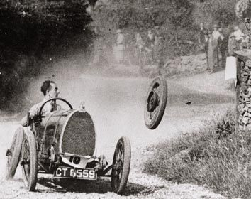 Every Bugatti enthusiast is very familiar with this photograph. It shows Raymond Mays at the Shelsley Walsh mountain race in Wales in 1924.  v@e.