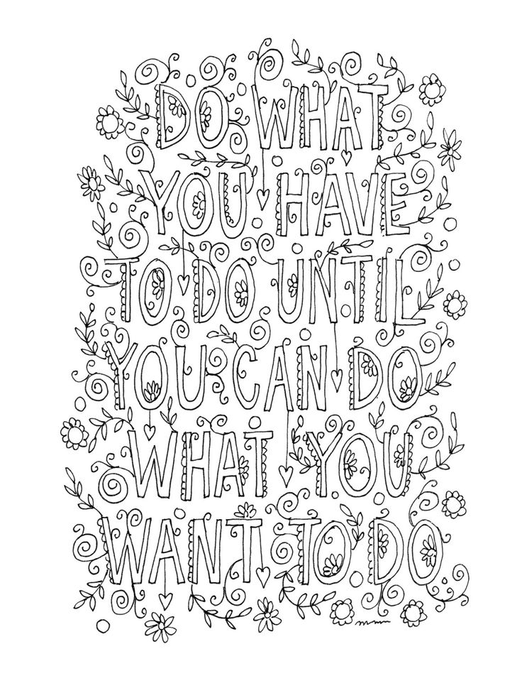 Line Art Quotes : The best quote coloring pages ideas on pinterest