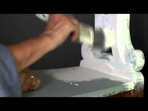 Annie Sloan krijtverf handleiding nummer 2 hoe je met twee kleuren distressing kan toepassen