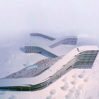 The website of danish architects bjarke ingels group big for Design hotel ski