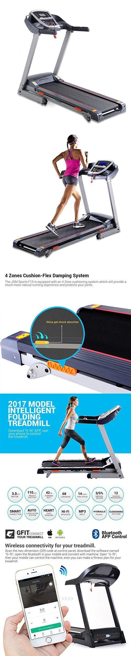 Garain S8100 Folding Electric Treadmill Motorized Power Treadmill Portable Running Gym Fitness Machine with Bluetooth Control (US STOCK)