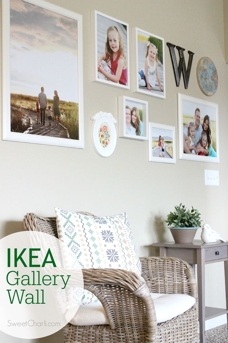 Design your own IKEA gallery wall using IKEA frames and using other IKEA items to design your space.