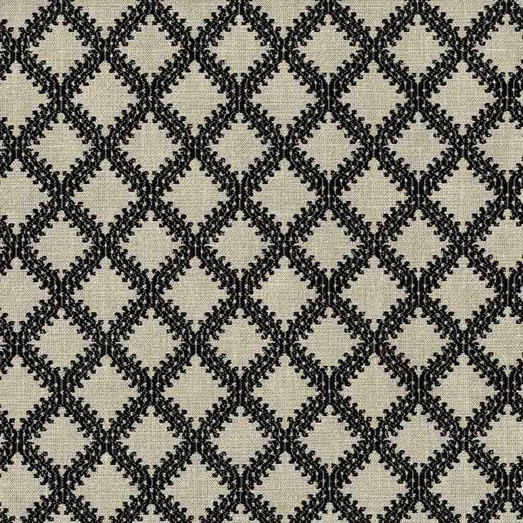 Warwick Fabrics : LIMOGES, Colour EBONY