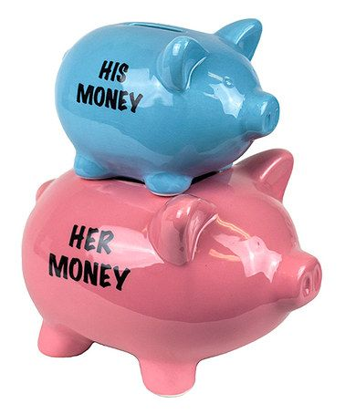 Loving this Blue & Pink Ceramic Double Piggy Bank on #zulily! #zulilyfinds