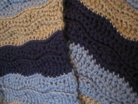 Crochet Patterns Wave Afghan : Crochet blanket pattern. I need to do this in shades of purple.