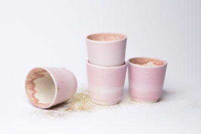 small pink coffee cups — Bańka & Przepiórka
