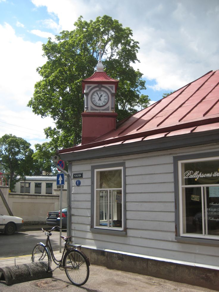 The ever so wonderful building with its own little bell tower at Kauba 1, Kuressaare