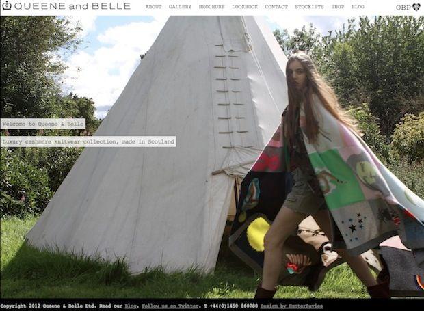 2012 latest #website design www.queeneandbelle.com