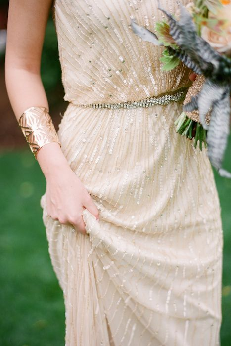 Sequin beaded bridesmaids dress. 10 Beaded Bridesmaid Dresses that We Love on @intimatewedding #bridesmaids #bridesmaidsdress