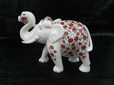 Elephant for home inlay garden decorative sculpture marble semiprecious stones in Other Home Decor | eBay