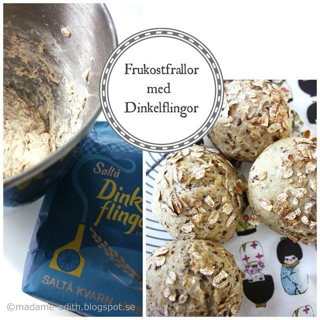 Frukostfrallor - Med dinkelflingor - Förbered degen på kvällen