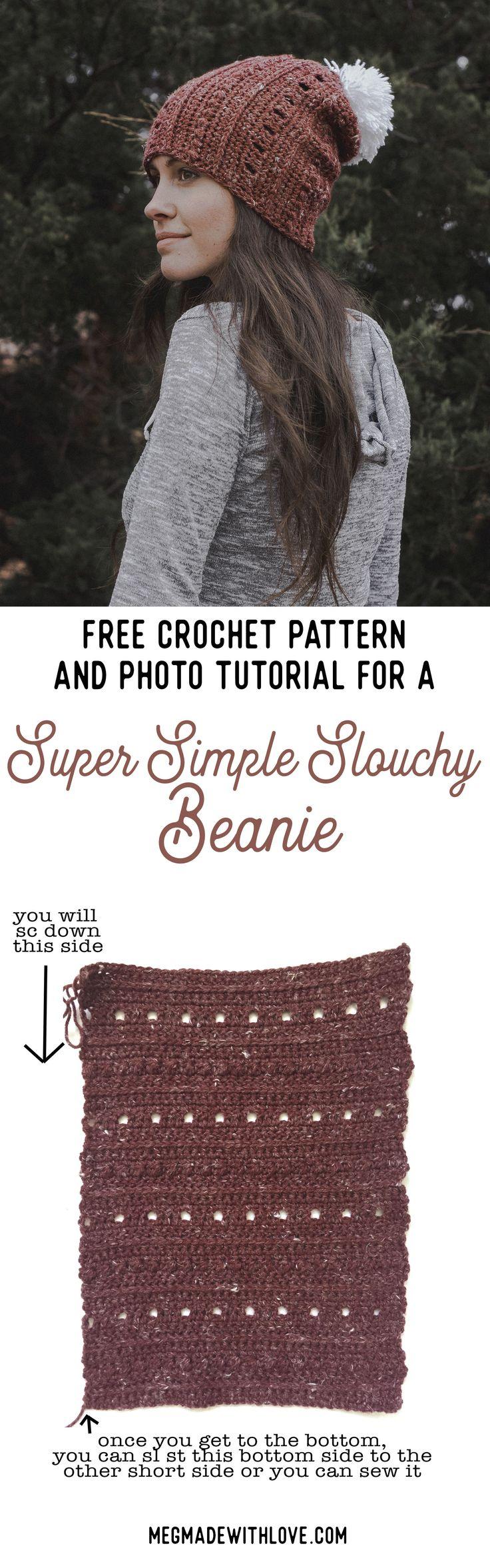 Slouchy beanie - crochet pattern