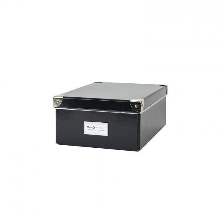 FÖRVARINGSBOX PAPP MILLE SVART 32X22,5X12,5CM - Förvaringsboxar papp - Förvaring - Inredning & Förvaring