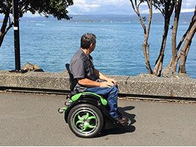 Ogo Segway wheelchair adapted for paraplegics