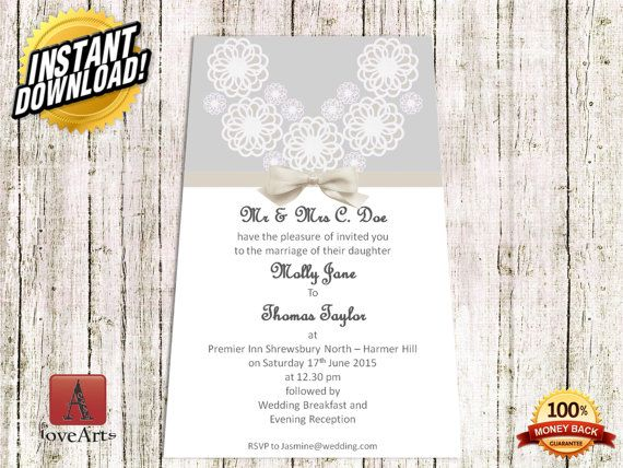Hey, I found this really awesome Etsy listing at https://www.etsy.com/listing/233620828/instant-download-2in1-wedding-card-fully