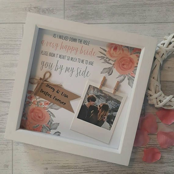 Bridesmaid Gifts Wedding Party Gifts Maid Of Honour Gifts Etsy Gifts For Wedding Party Bridesmaids Frames Wedding Gifts