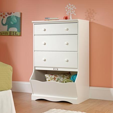 Sauder Woodworking 414434 Pogo Kids 3-Drawer Bedroom Chest Dresser Soft White - Walmart.com